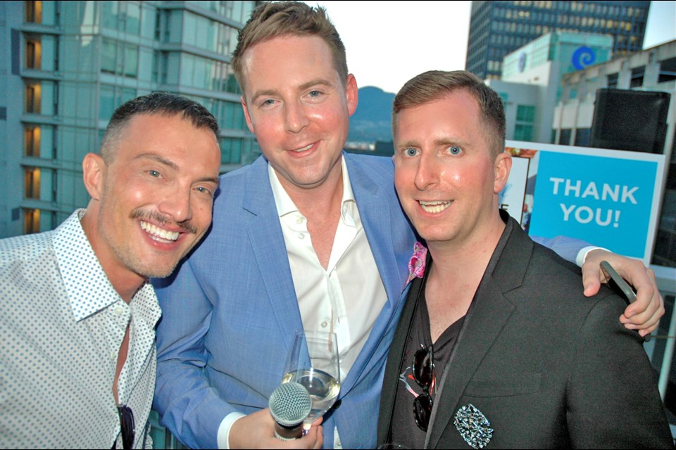 Gary Serra, Ryan McKinley and Kevin Mazzone's Pride Cocktail Party at the Loden once again kicked off Vancouver's Pride festivities on the right note. Their penthouse party generated nearly $50,000 for the Dr. Peter Centre.