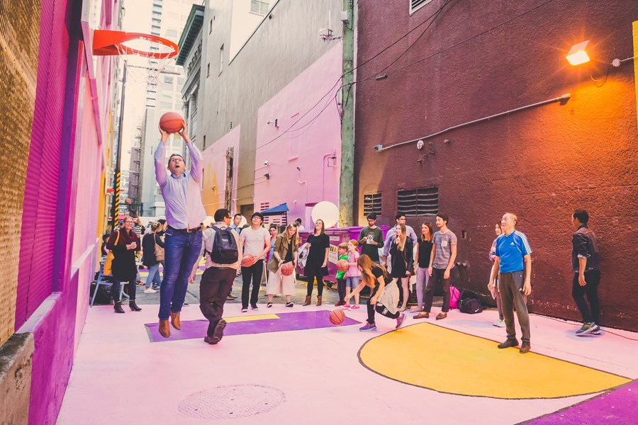Opened last fall, the Alley Oop project on Hastings Street between Granville and Seymour has seen a 200 per cent increase in foot traffic.