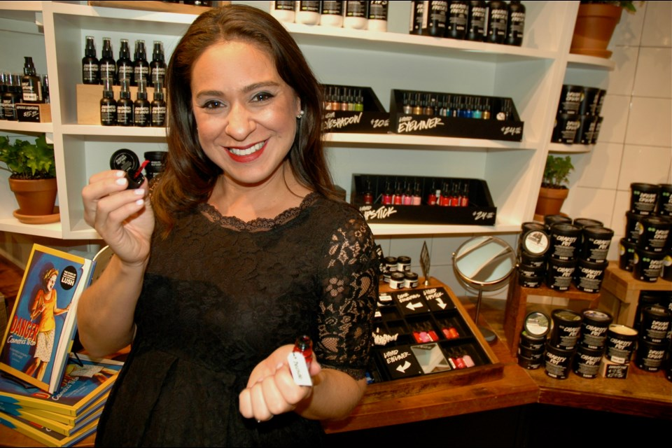 Brandi Halls, director of brand communications, shows off Lush's in-house brand of handcrafted body-care, cosmetic and skincare goods. Skincare products account for 37 per cent of Lush Robson sales this past year. The 2,340 sq. ft. store will also house the firm's first hair care styling bar.