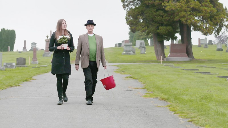 James Pollard (shown walking with his daughter, Emma) was diagnosed with terminal cancer at the age of 46. His end of life journey is documented in Carmen Pollard's film, For Dear Life.