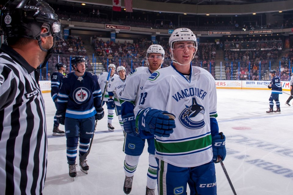 Kole Lind at 2017 Young Stars for the Canucks