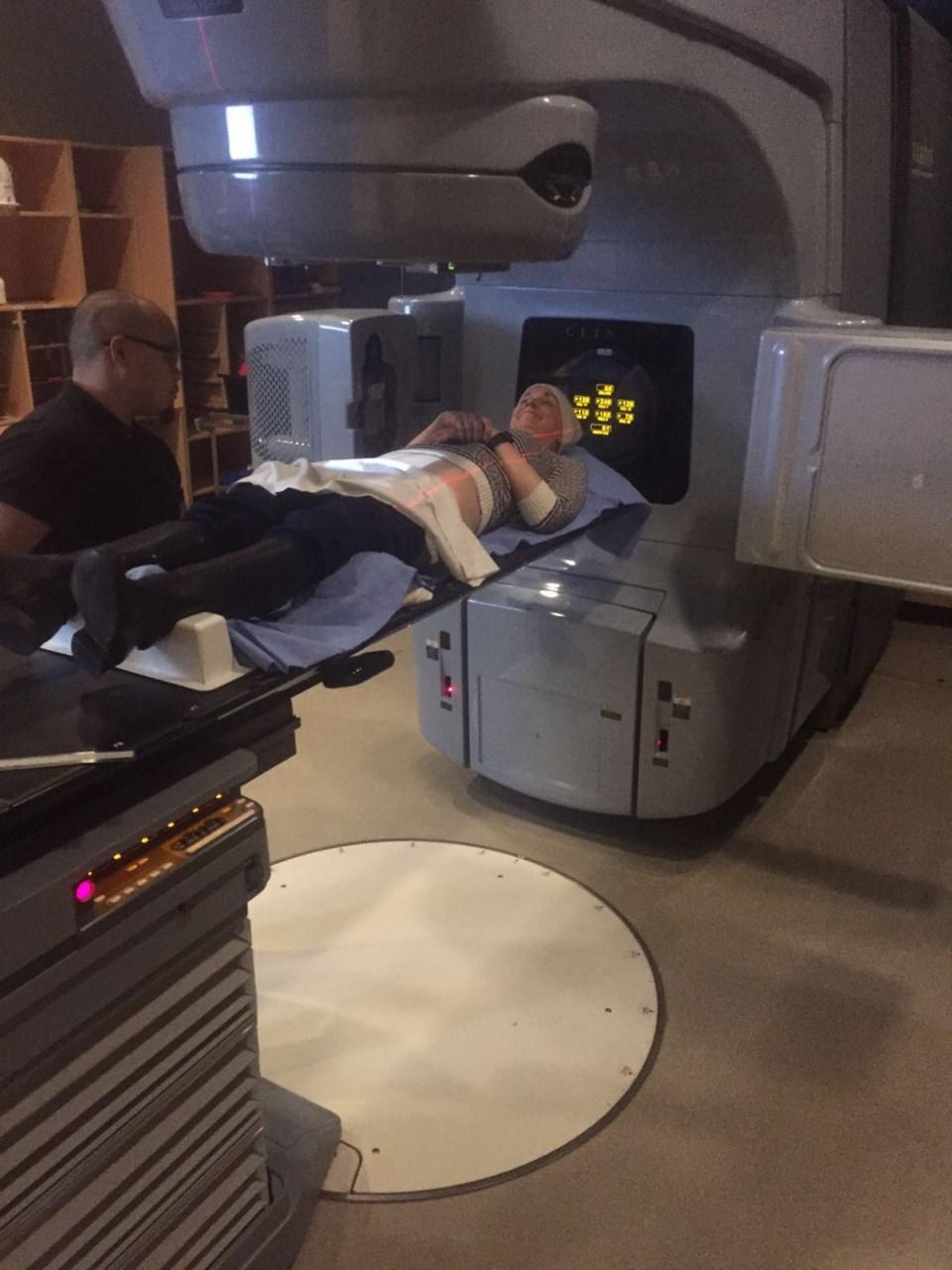Erin Barrett in radiation