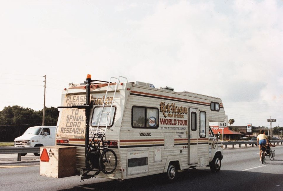 This motor home became a symbol of the Man in Motion Tour.