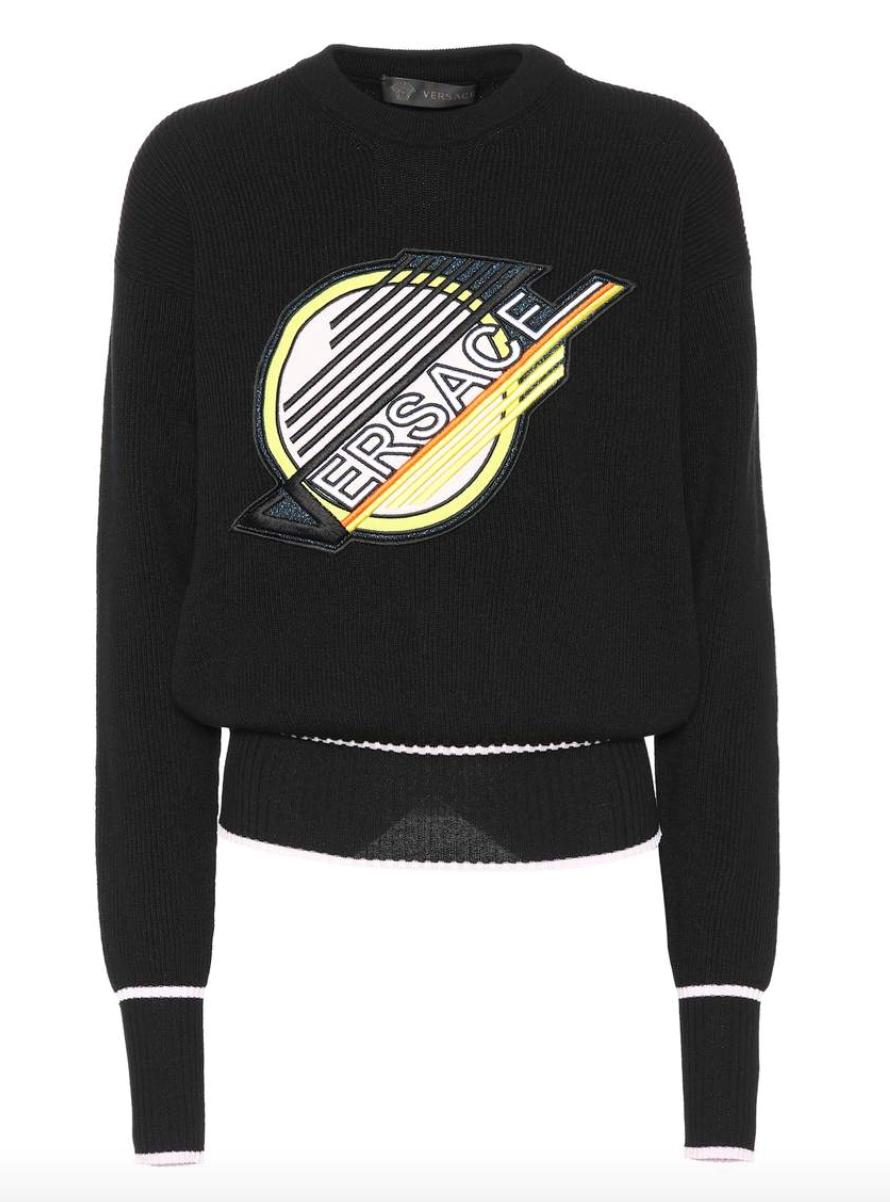 Versace Spaghetti-Skate Canucks Logo Sweater