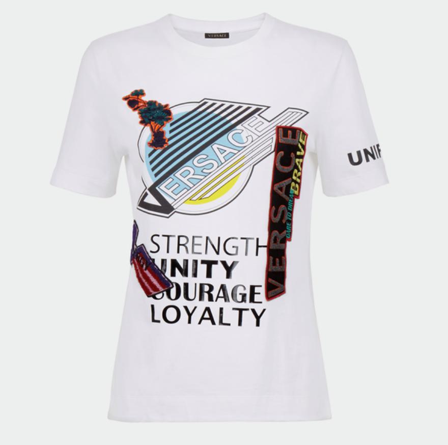 Versace Spaghetti-Skate Canucks Logo T-Shirt