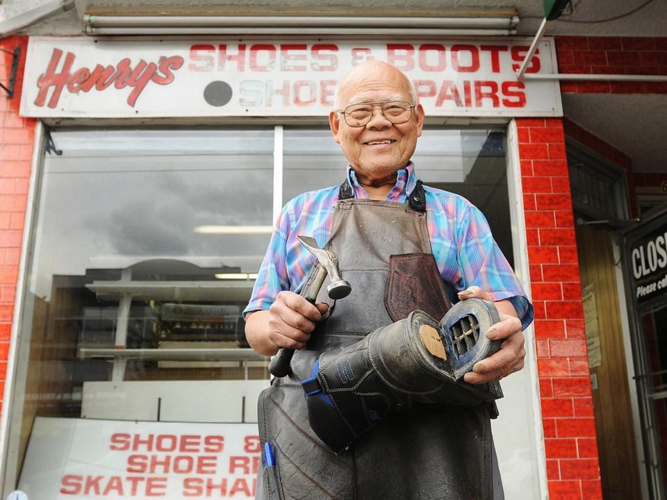 Cobbler Henry Ng retired in September after 50 years. Photo Dan Toulgoet