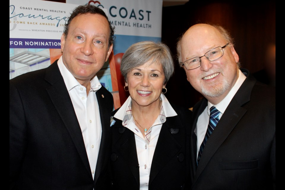 Gala chairman Lorne Segal, founding chairperson Shirley Broadfoot, and Darrell Burnham, CEO of Coast Mental Health, launched the Courage to Come Back campaign with a call for nominations to recognize extraordinary British Columbians who have found courage to come back and give.