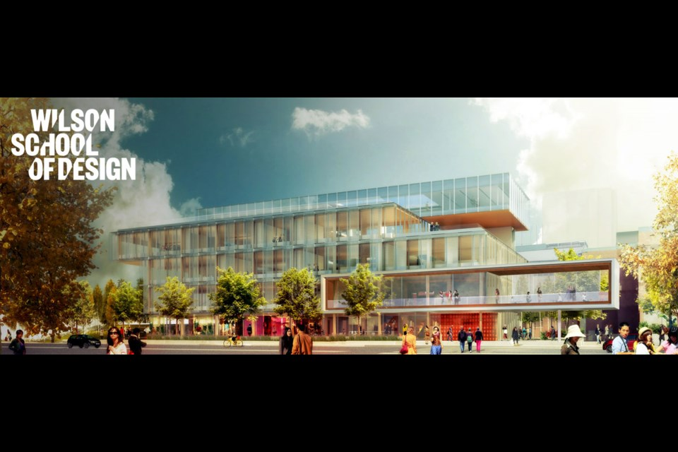 KPU's Wilson School of Design was announced in 2012 and officially opened for classes on January 3. Image/KPU