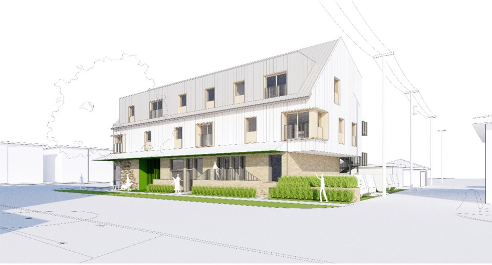 A community open house about the cohousing lite project is scheduled for Feb. 1. Rendering courtesy