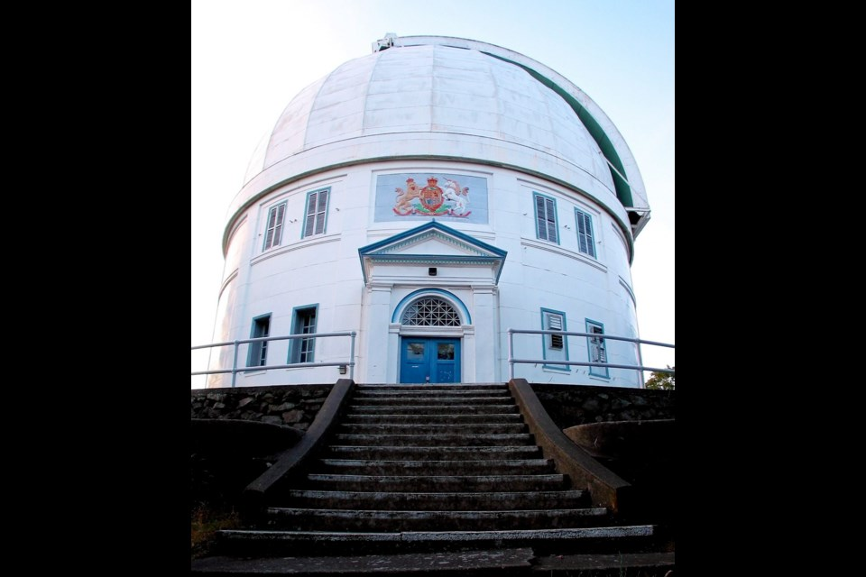 The Dominion Astrophysical Observatory at the summit of Little Saanich Mountain.