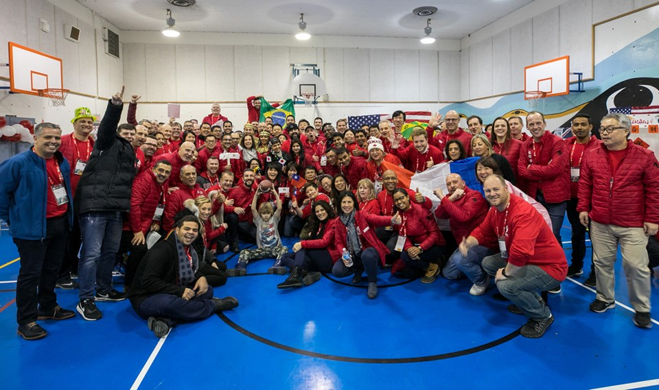 Trend Micro staff at Vancouver elementary school