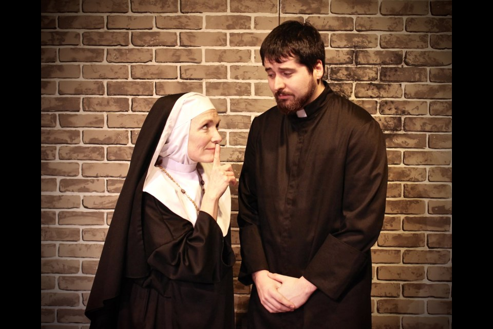 Halia Hirniak and Christopher Brown in Drinking Habits, running Feb. 1 to 25 at Burnaby Legge Theatre.