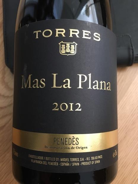 Don't miss tasting this amazing 2012 Torres Mas la Plana.
