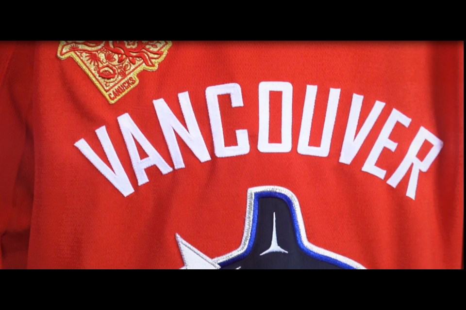 Canucks to play Chinese New Year game with special dragon jerseys. Image courtesy Canucks