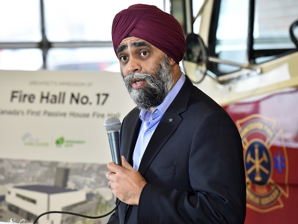Harjit Sajjan, the minister of national defence and MP for Vancouver South, spoke on behalf of Jim C