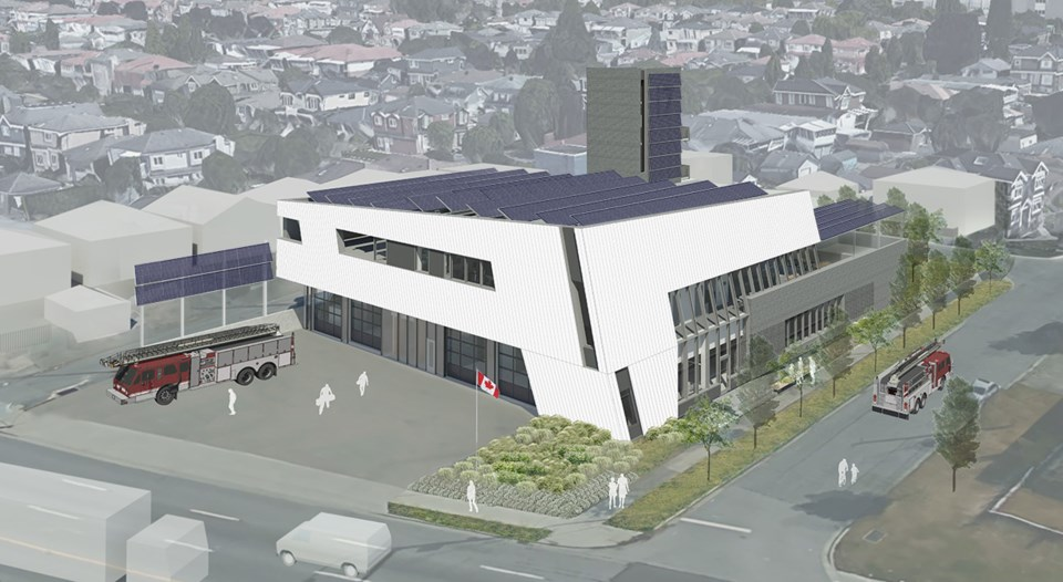 An artist's rendering of the new fire hall No. 17, which is expected to open mid-2019.