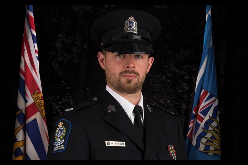 Bryce Casavant served as a BC conservation officer from 2013-2015.