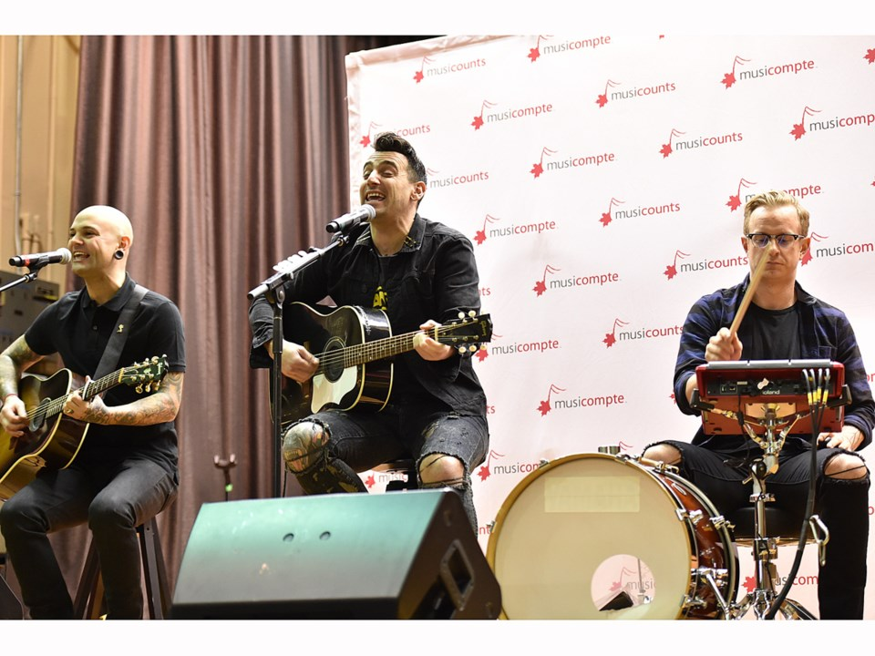 Members of Hedley recently performed at MusiCounts charity event at Sir Alexander Mackenzie elementa
