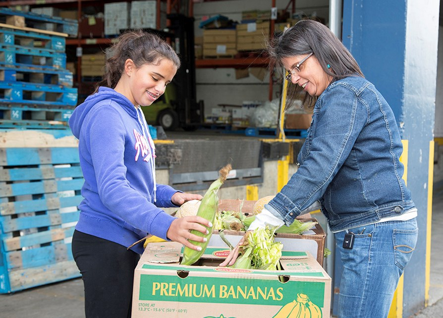 Greater Vancouver Food Bank fresh corn