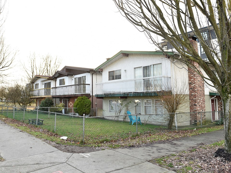 These Vancouver Specials, built in 1979, were assessed at about $1.4 million each. But as a set, the