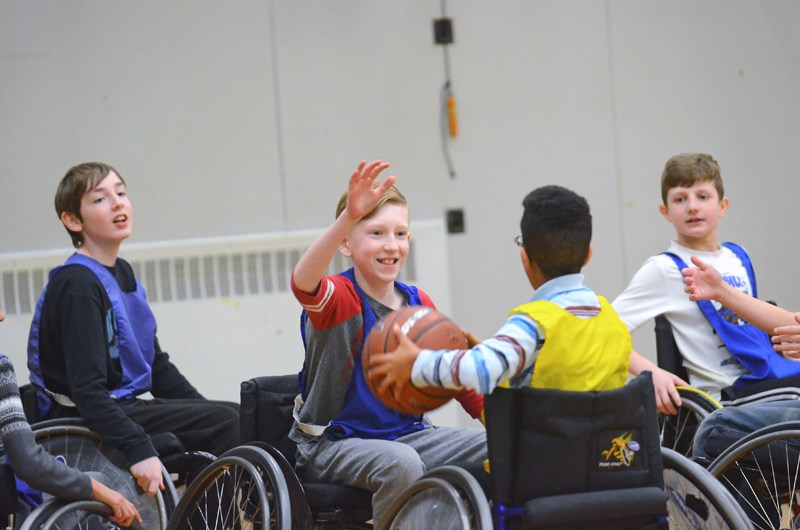 Cameron Elementary School students tried their hand at wheelchair basketball during an annual P.E. unit this month.