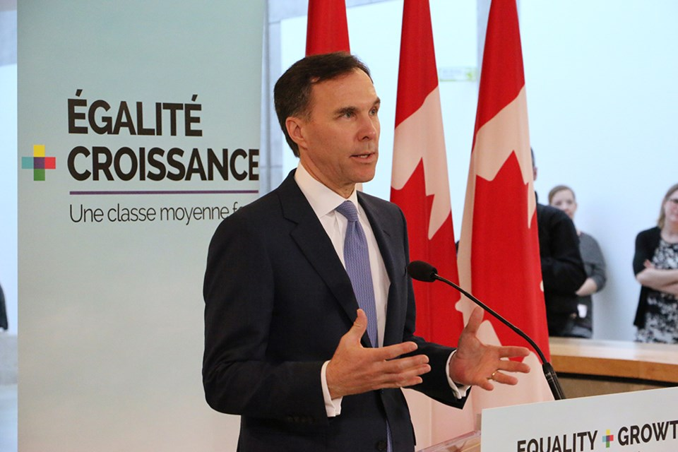 Finance Minister Bill Morneau visited UBC Tuesday afternoon as part of his promotional tour of the 2