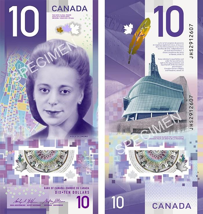 Viola Desmond $10 bill