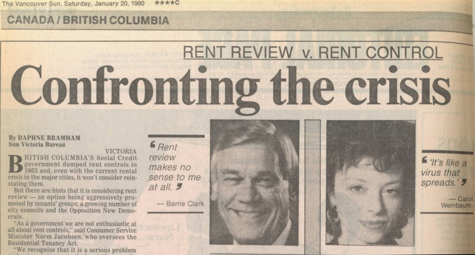 Rental crisis Van Sun January 20 1990
