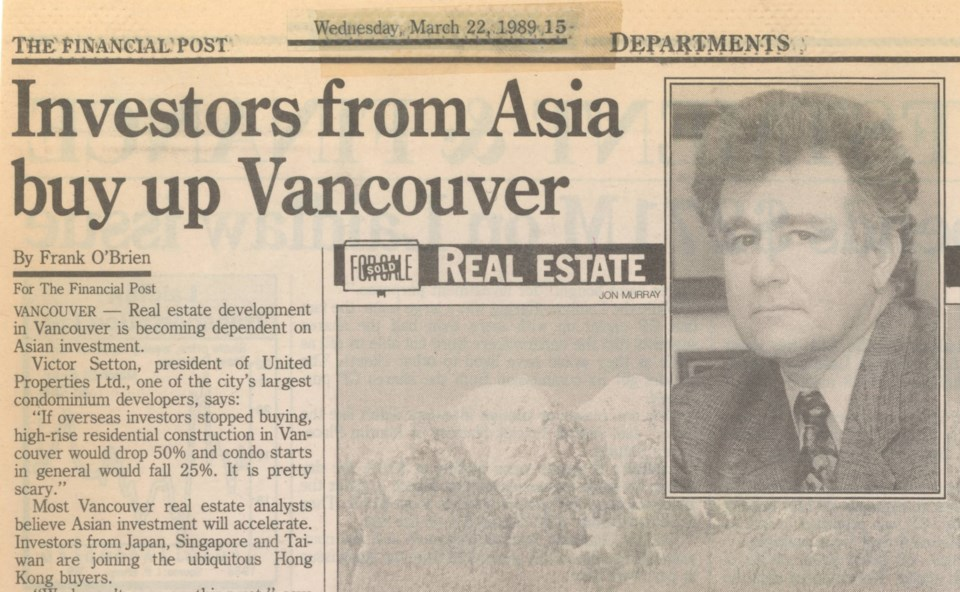 Asian investors March 22 Financial Post 1989