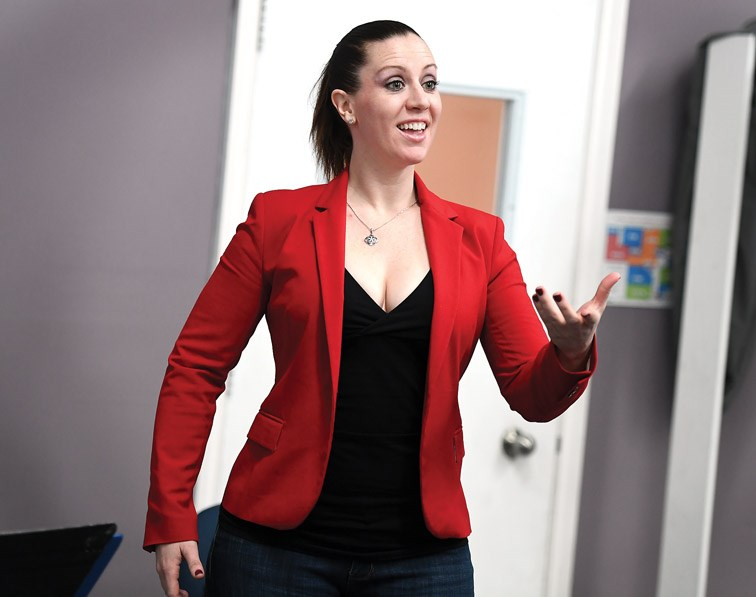 Kathleen Morrison is one of Canada's great modern opera singers working with students Monday afternoon. She is here in Prince George for a workshop and a concert on Saturday night. Citizen photo by Brent Braaten   March 19 2018