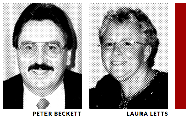 Peter Beckett and Laura Letts-Beckett