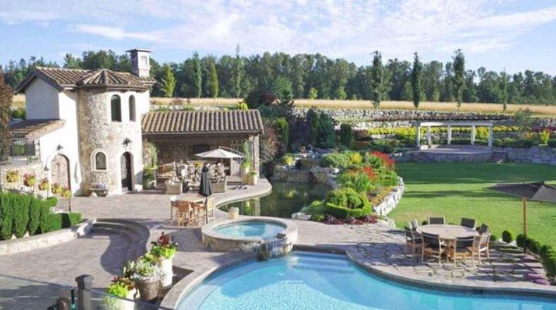 Surrey villa listing pool