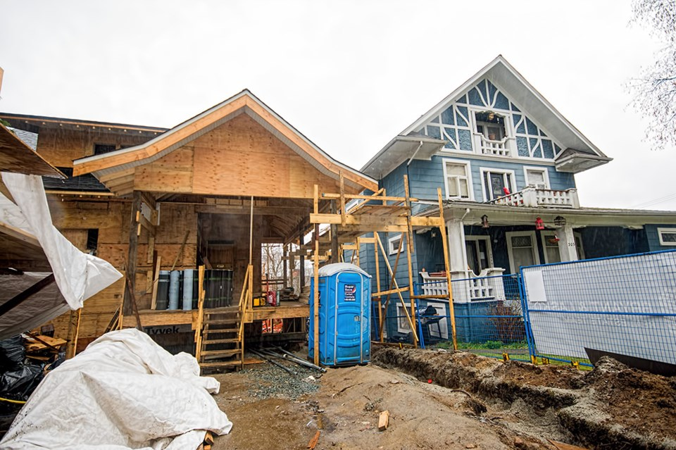 In Vancouver, first quarter starts soared 109 per cent to 1,956 homes, including 1,592 apartments or