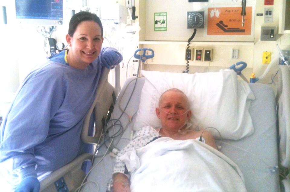Ingrid Bates in hospital