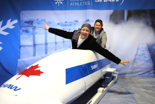 Ingrid Bates in sled
