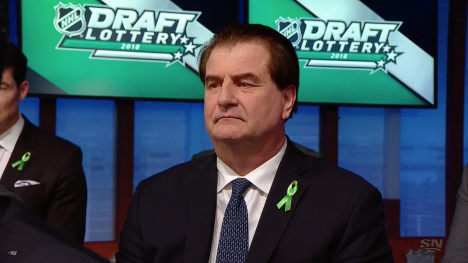 Jim Benning is disappointed at the NHL Draft Lottery
