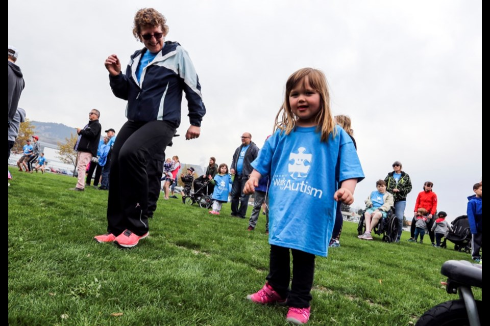 Cheryl (left) and Tia Stonehouse were among those who took part in the 2018 Chris Rose Walk for Autism. The annual event returns this weekend — during Autism Awareness Month — with the walk scheduled to take place this Saturday. The event will start at 10 a.m. at the NorKam senior secondary soccer field. From there, participants will walk to McArthur Island and return to NorKam, where the North Kamloops Lions will serve up hamburgers and hot dogs for a small fee. All proceeds raised from the walk will go to fund programs and services for people with autism. Registration is by donation, but there is a minimum $10 donation to receive a T-shirt. For more information, go online to chrisrosecentre.org.