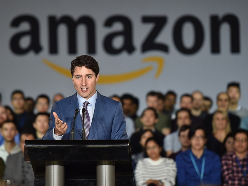 Trudeau at Amazon Vancouver