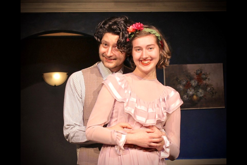 Alex Ross and Ashley Chodat are part of the offbeat Sycamore family in the Vagabond Players' production of You Can't Take It With You, running May 31 to June 24 at the Bernie Legge Theatre in Queen's Park.