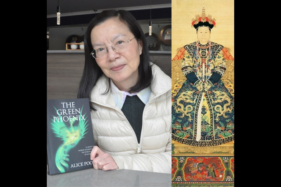 Steveston resident Alice Poon has published a historical novel on Empress Xiaozhuang (right), a legendary Chinese empress in Qing Dynasty. Daisy Xiong photo