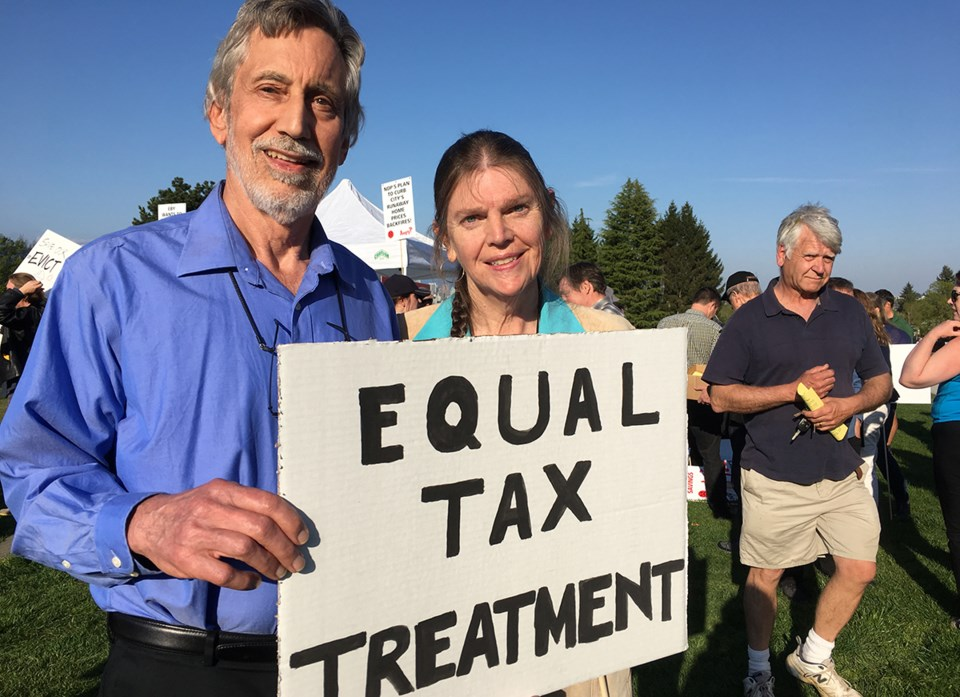 Point Grey tax protest