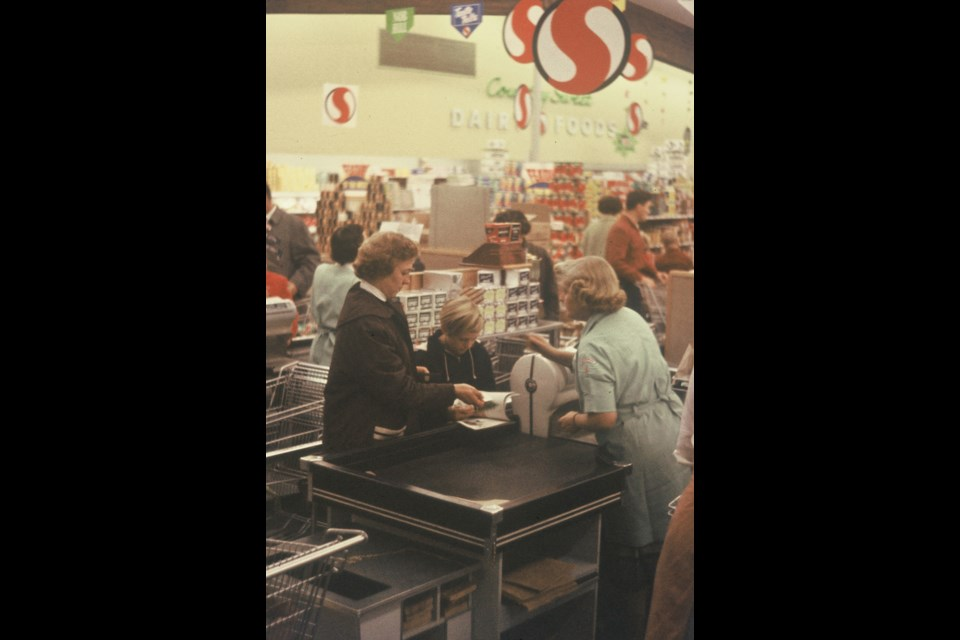 Interior of Safeway at No.3 Road and Westminster Highway, 1959. Photo: K.E. Eiche