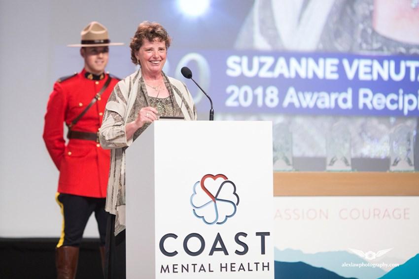 Suzanne Venuta Courage awards night