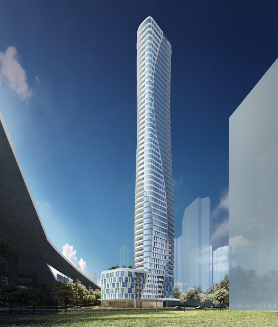 Beach Ave tower vertical 2