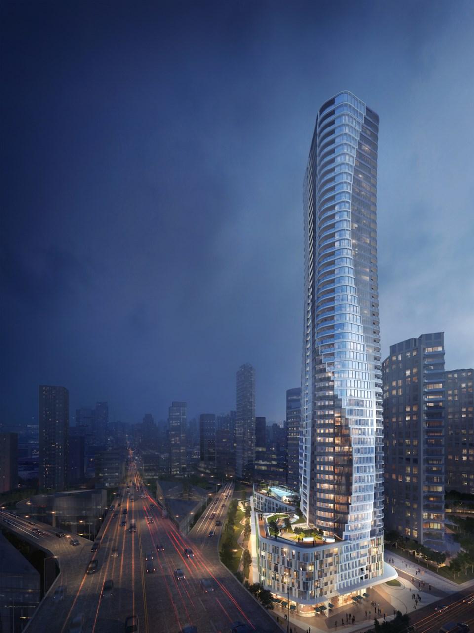 Beach Ave tower vertical