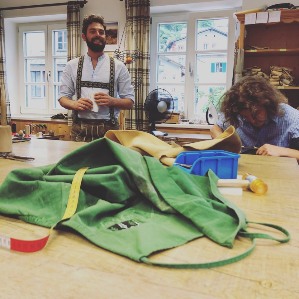 Family run Aigner Engelbert hand-stitches custom-made lederhosen for those with patience and a few g