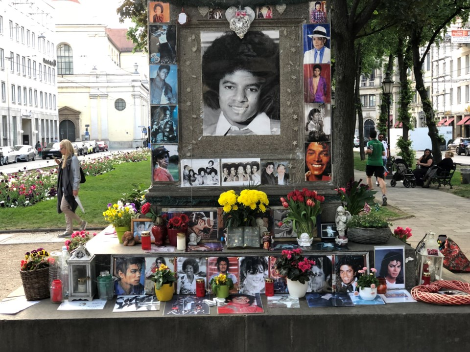 Erected in 2009, this shrine to Michael Jackson is still going strong on a posh Munich street, despi