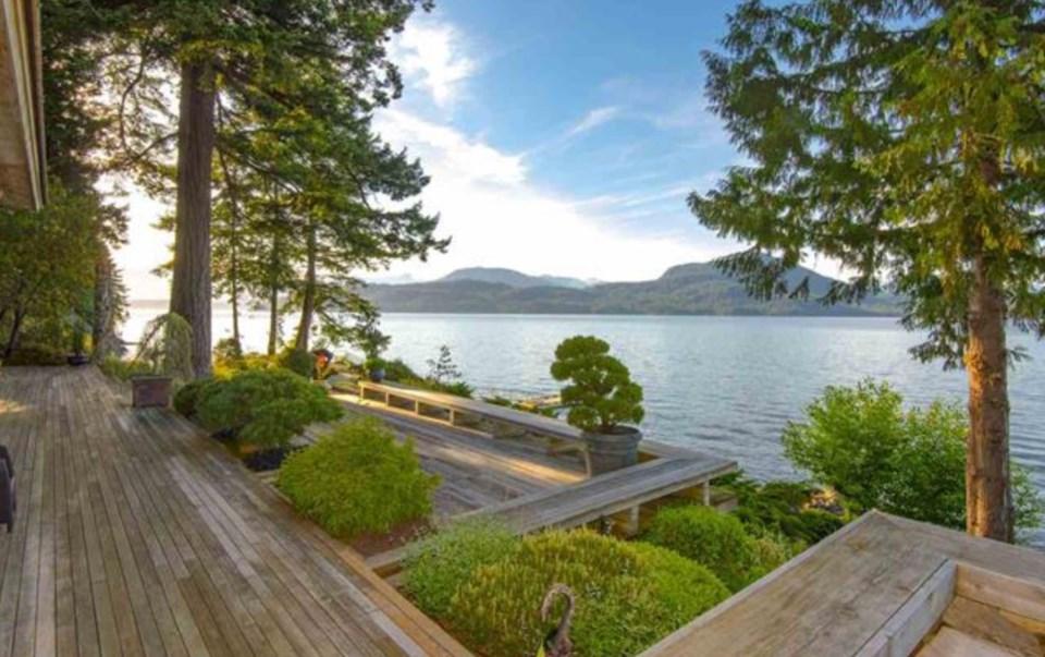 Bowen Island estate terrace view