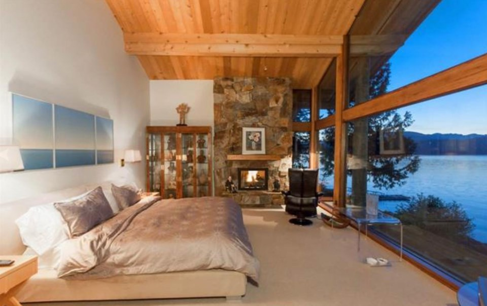 Bowen Island estate master bedroom