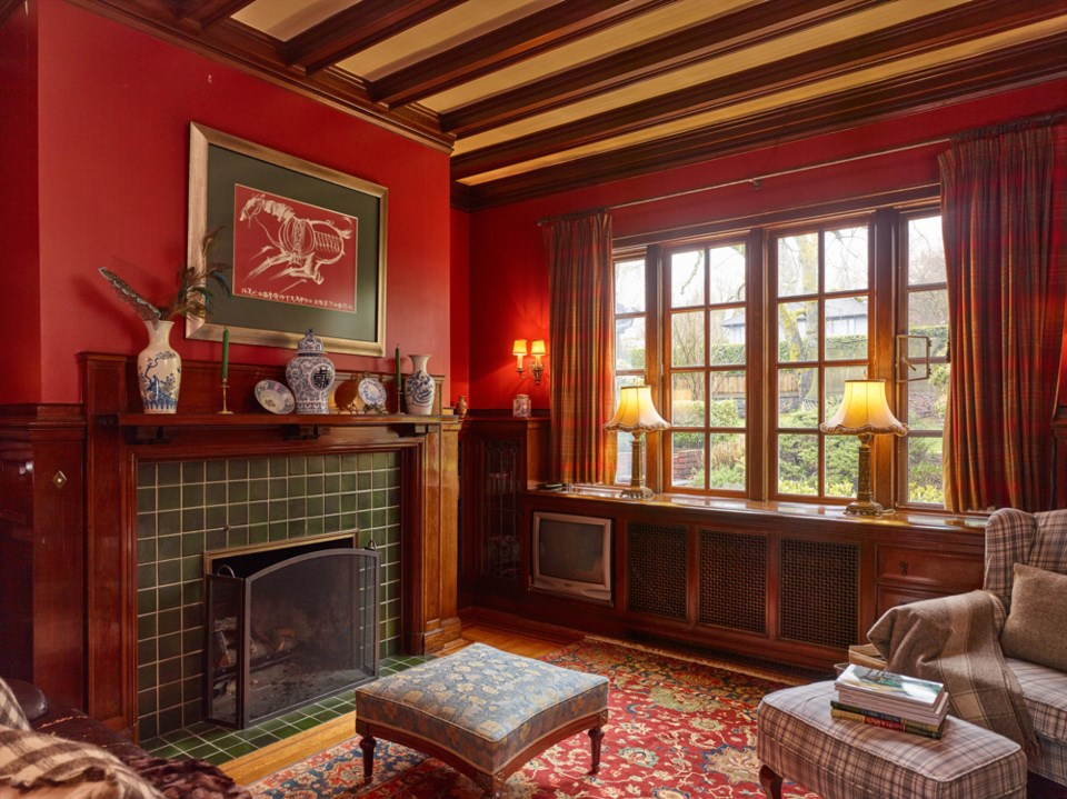 The home includes 10 fireplaces. Photo Martin Knowles